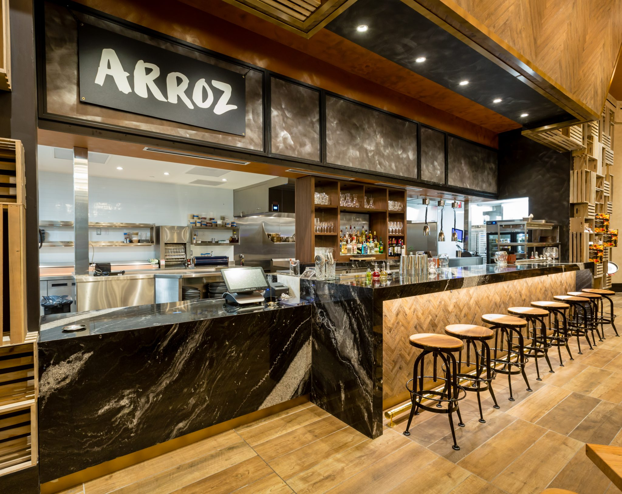 downtown a at galleries commercial spaces for greenville inspiration the top restaurant used sc granite on image husk bar countertops
