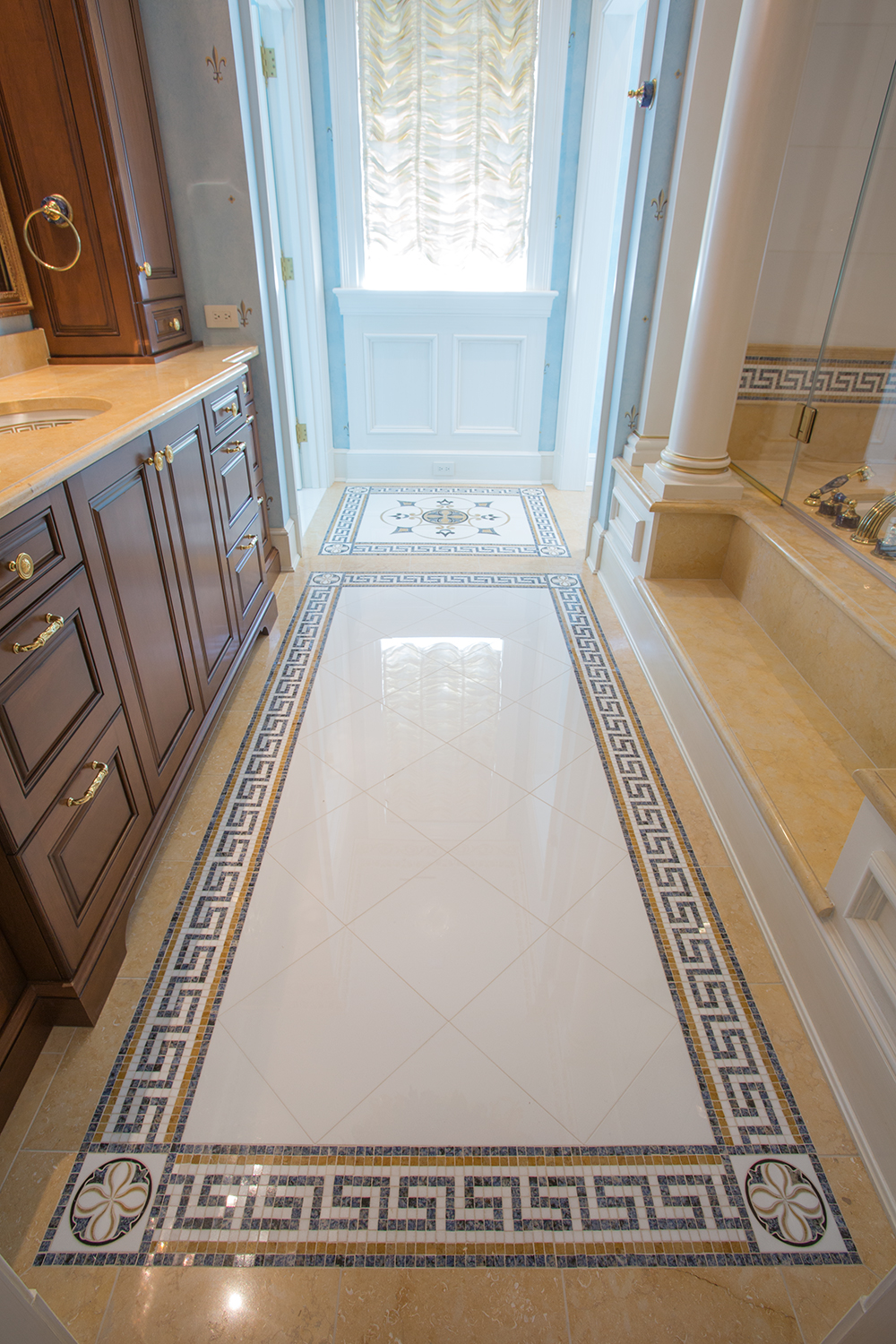 Marble Bathroom Floor Deck