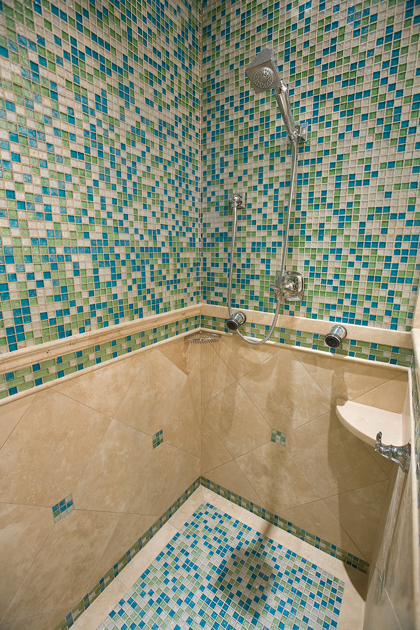 Glass Tile Mosaic Shower