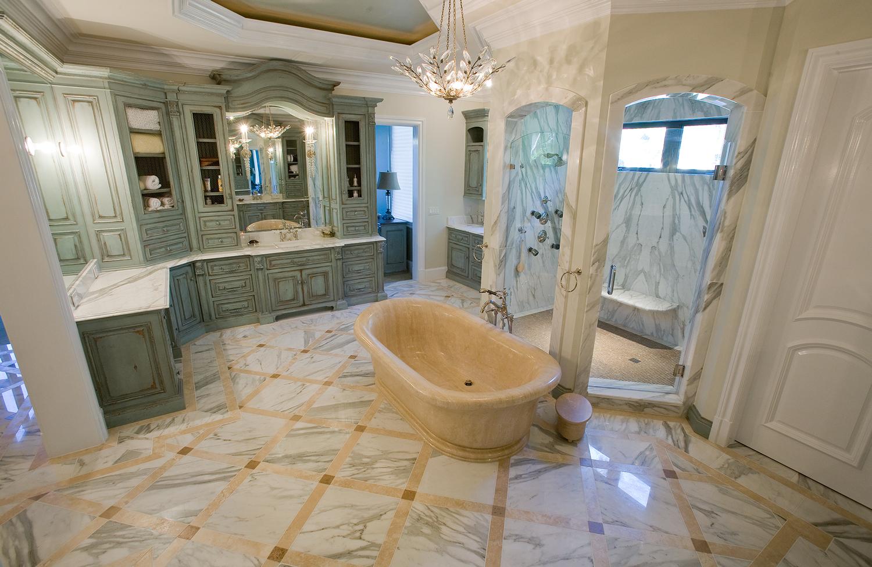 Calacatta Marble Master Bathroom