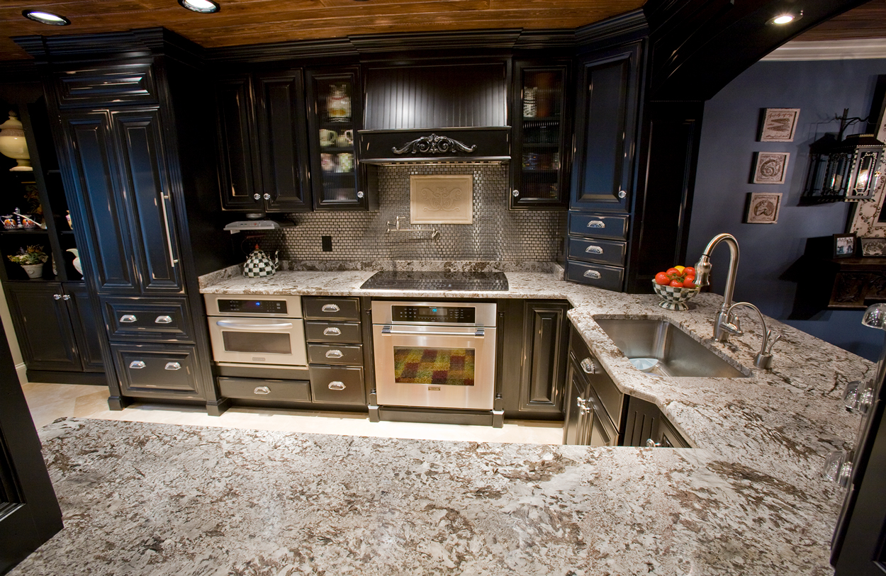 White Diamonds Kitchen Granite Countertops