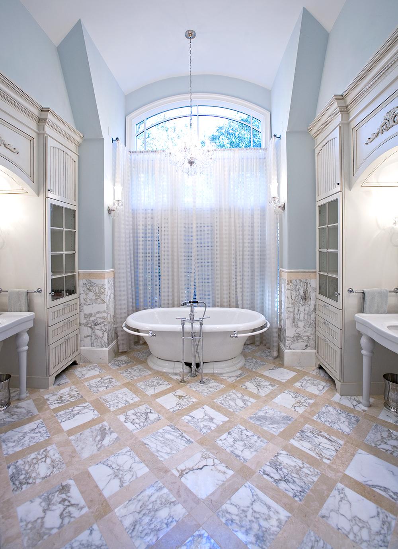 Calacatta Durango Marble Floor Tub