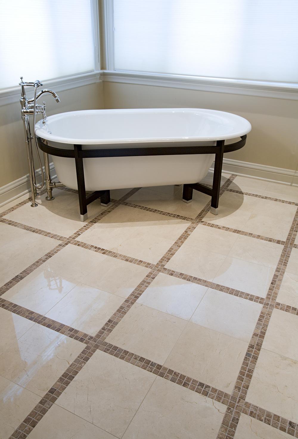 Crema Marfil Mosaic Floor