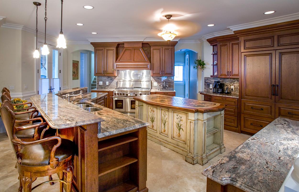 Crema Bordeaux Granite Habersham Kitchen