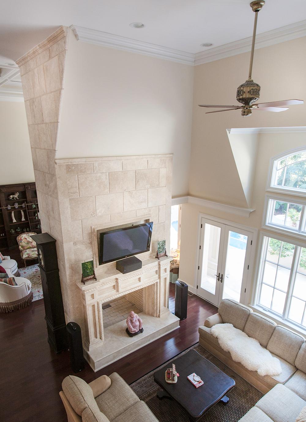 Durango Limestone Fireplace