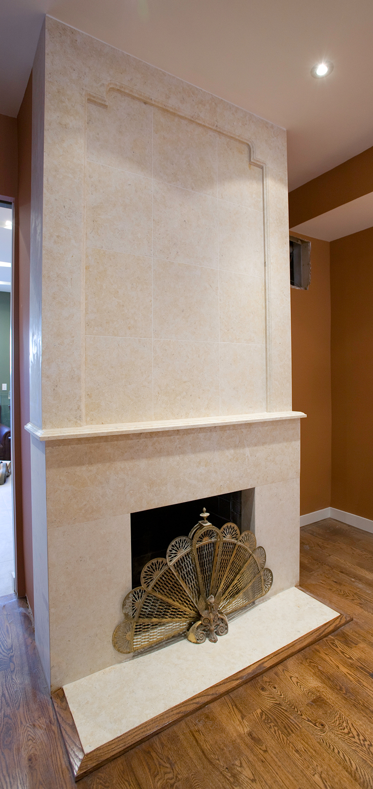 Jerusalem Gold Limestone Fireplace