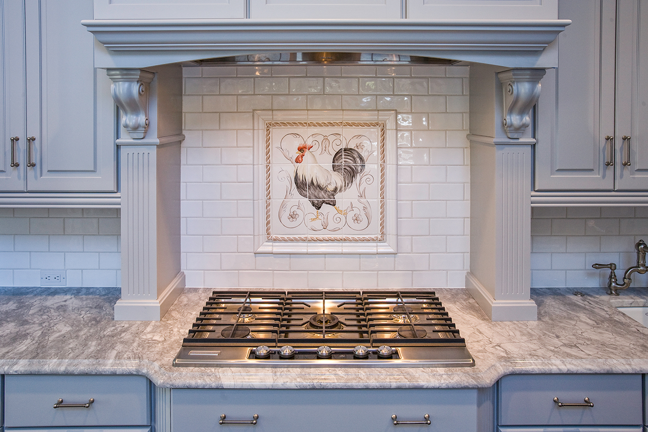 Super white Granite Kitchen Tile Splash