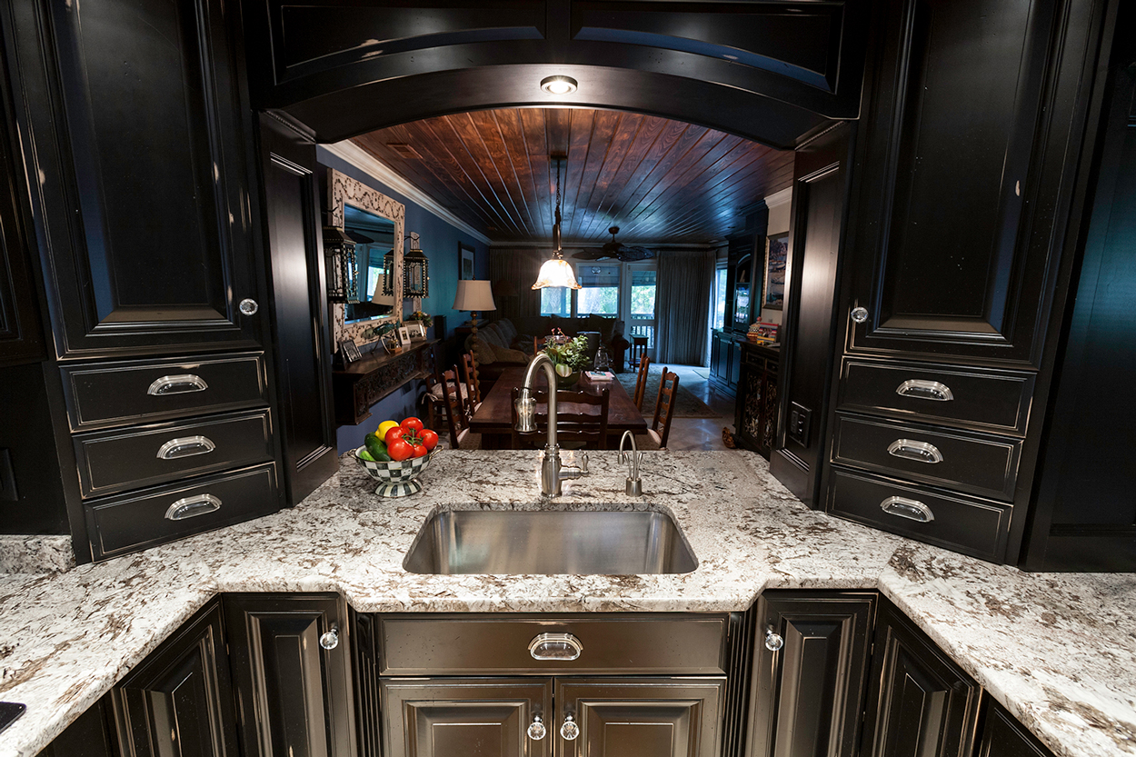 White Diamonds Granite Kitchen Decora Black Sink