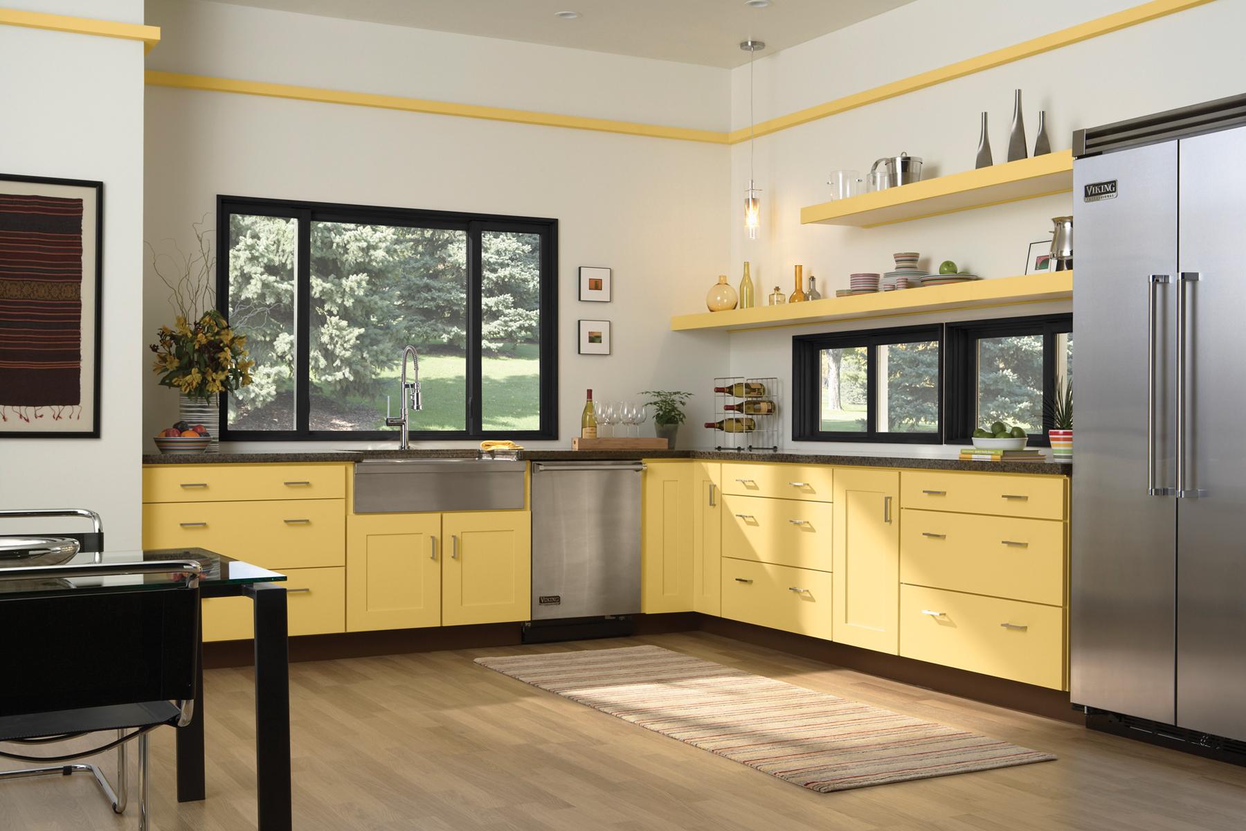 Wolf Cabinetry Copen Corner Black Kitchen Cabinet Design | Wolf Design