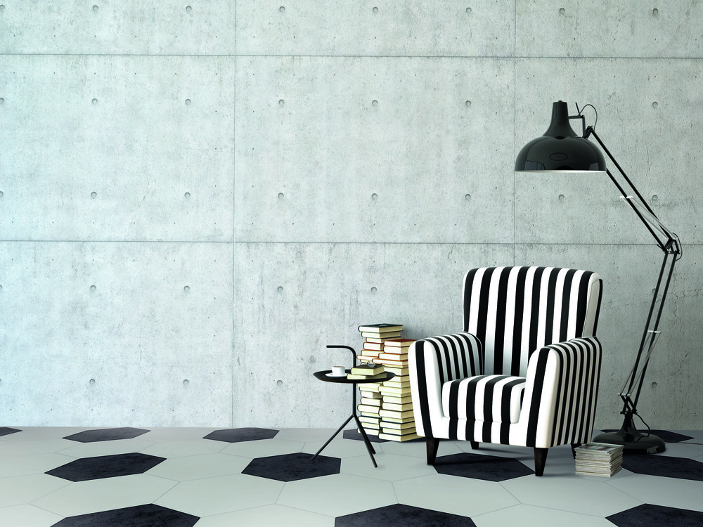 Daltile Beehive Resdential Tiles Black & White