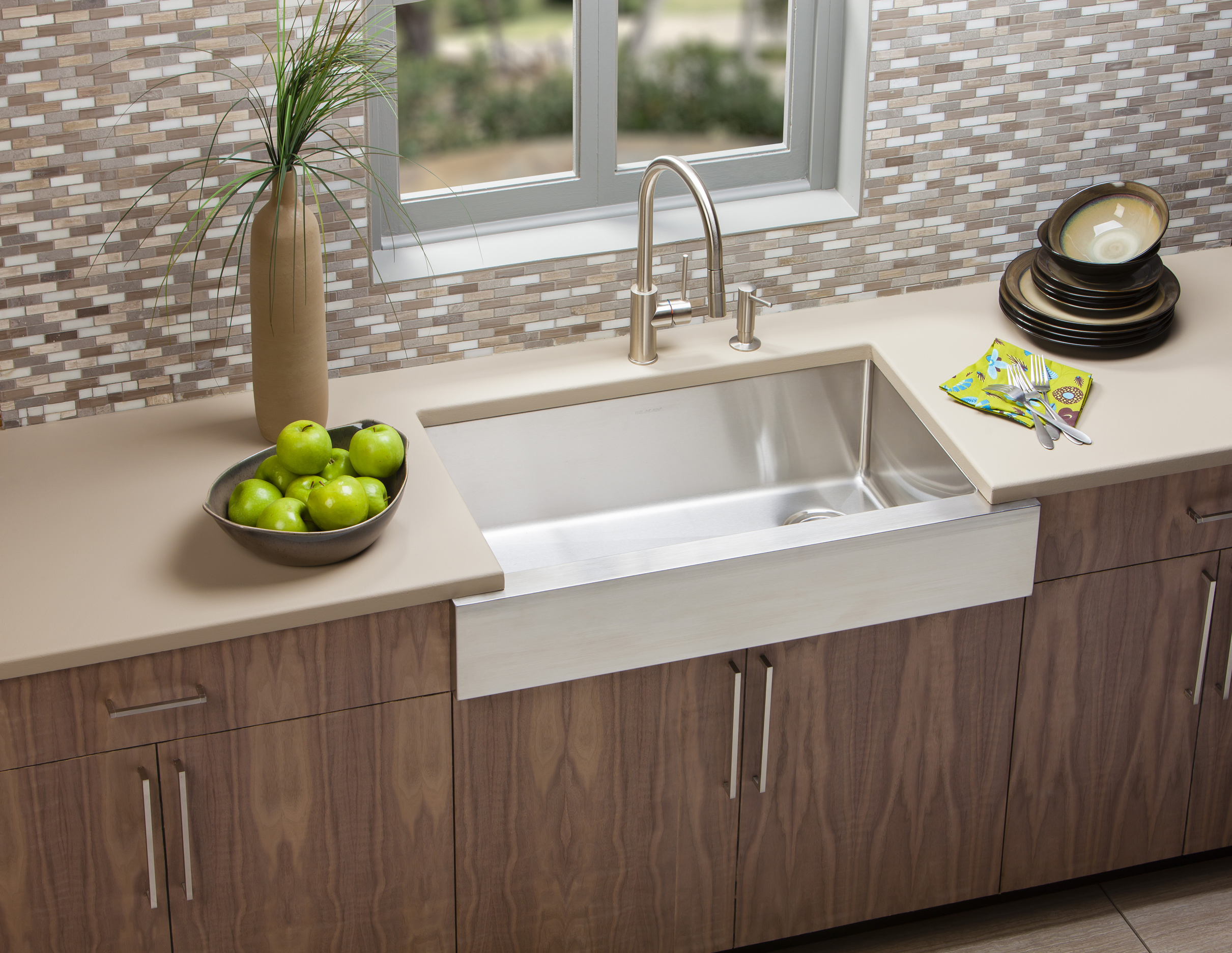 Elkay Crosstown Apron Front Sink And Harmony Faucet