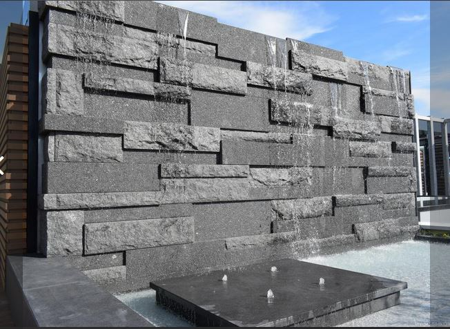 mesabi black granite fountain