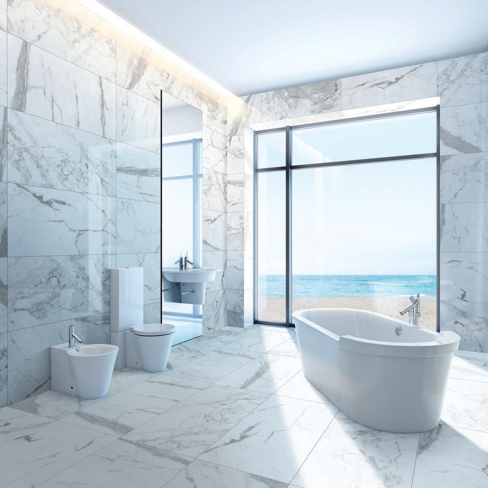 Daltile Marble Attache Calacatta Tiles