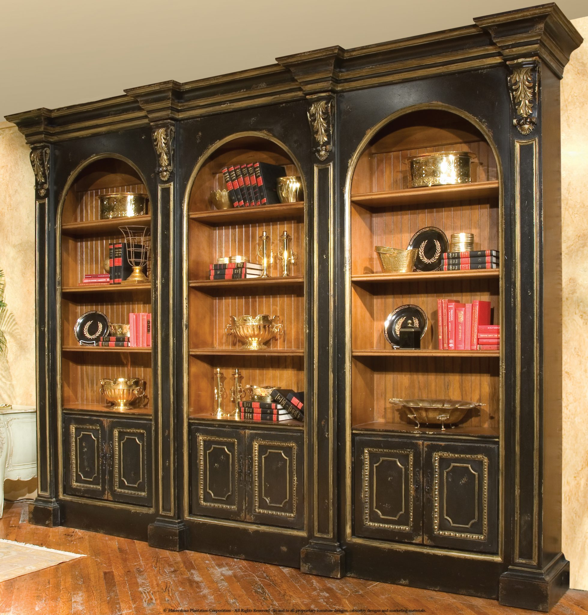 Habersham Library Cabinetry