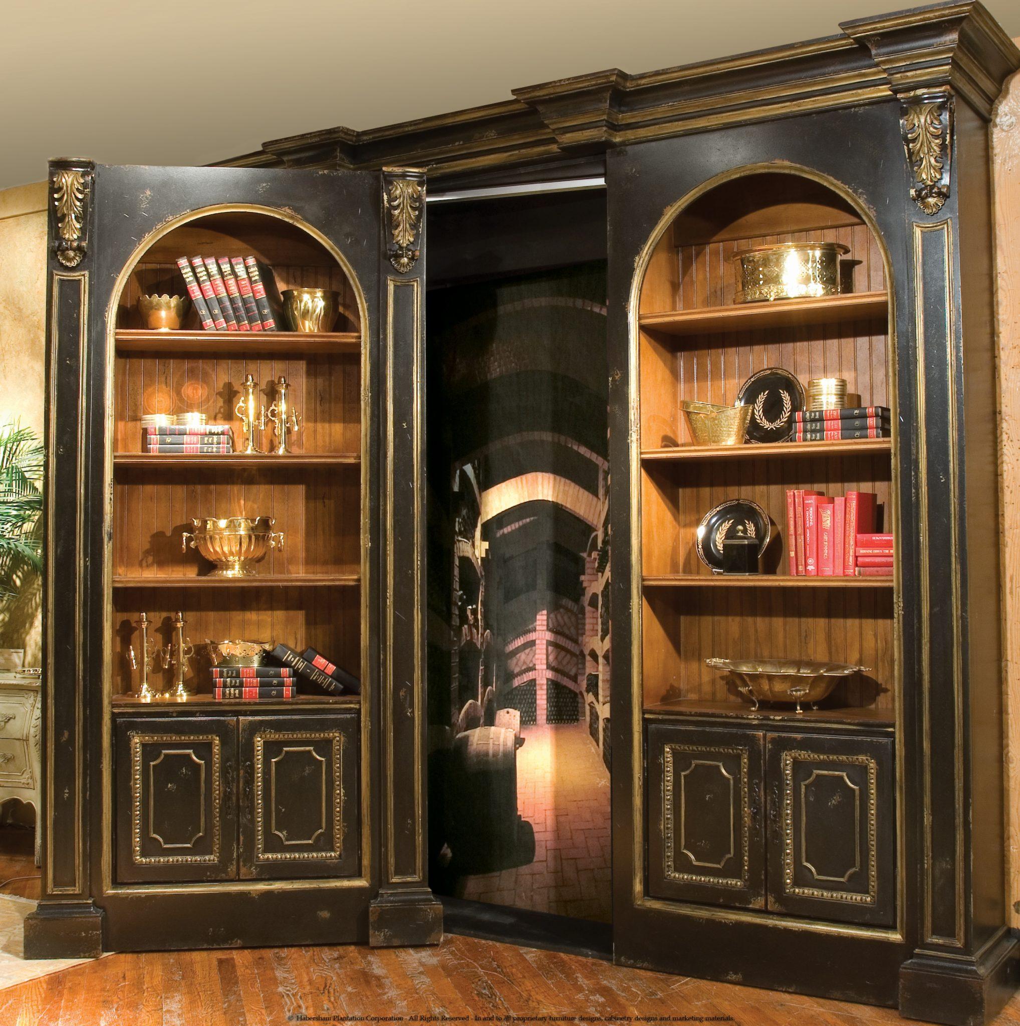 Habersham Library Secret Door Cabinetry