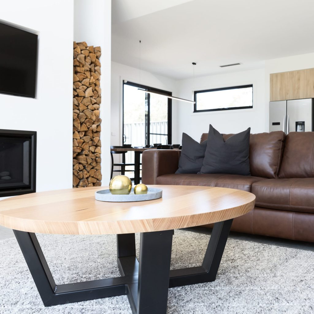 Home furniture in living room