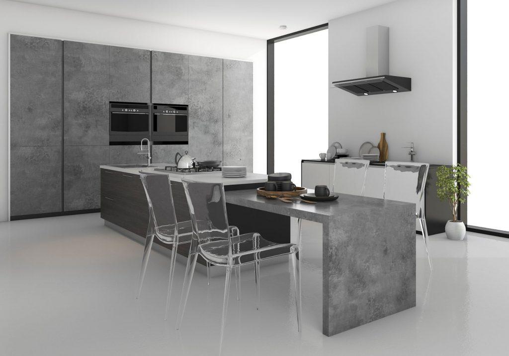 grey minimalistic kitchen