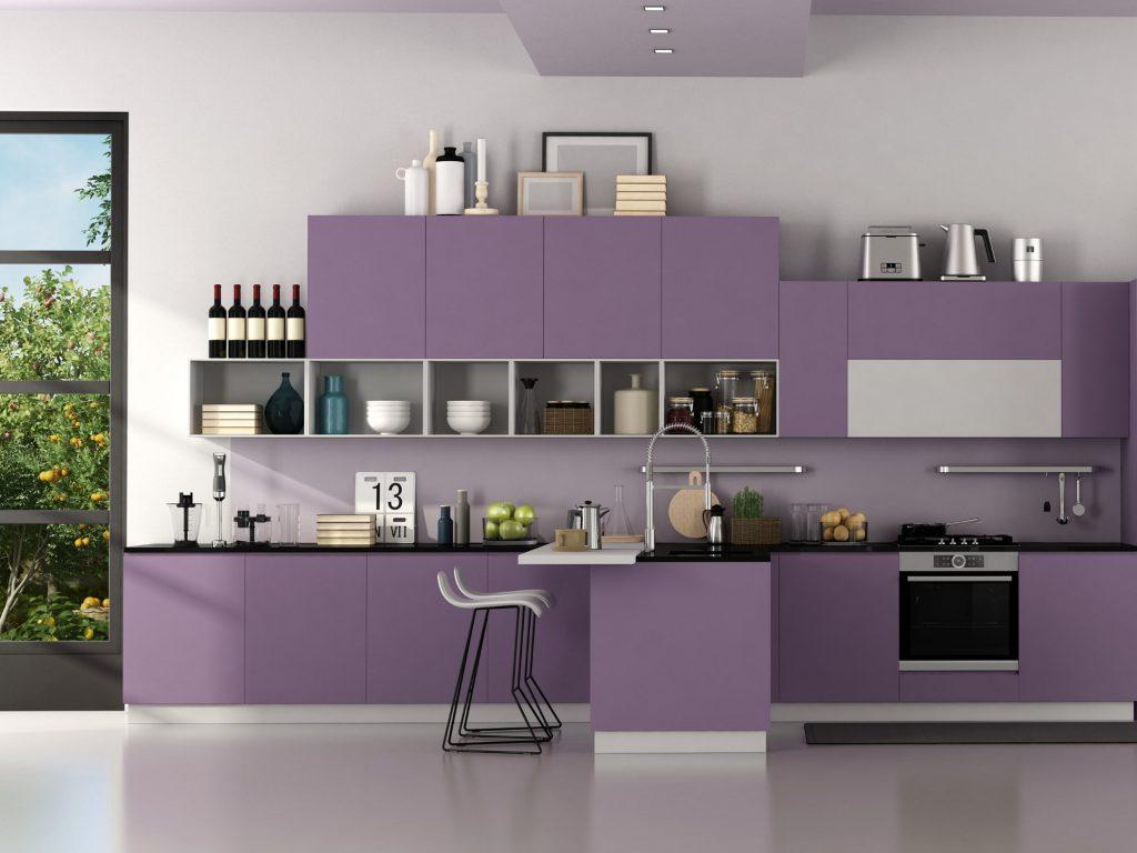 lavender cabinets kitchen design