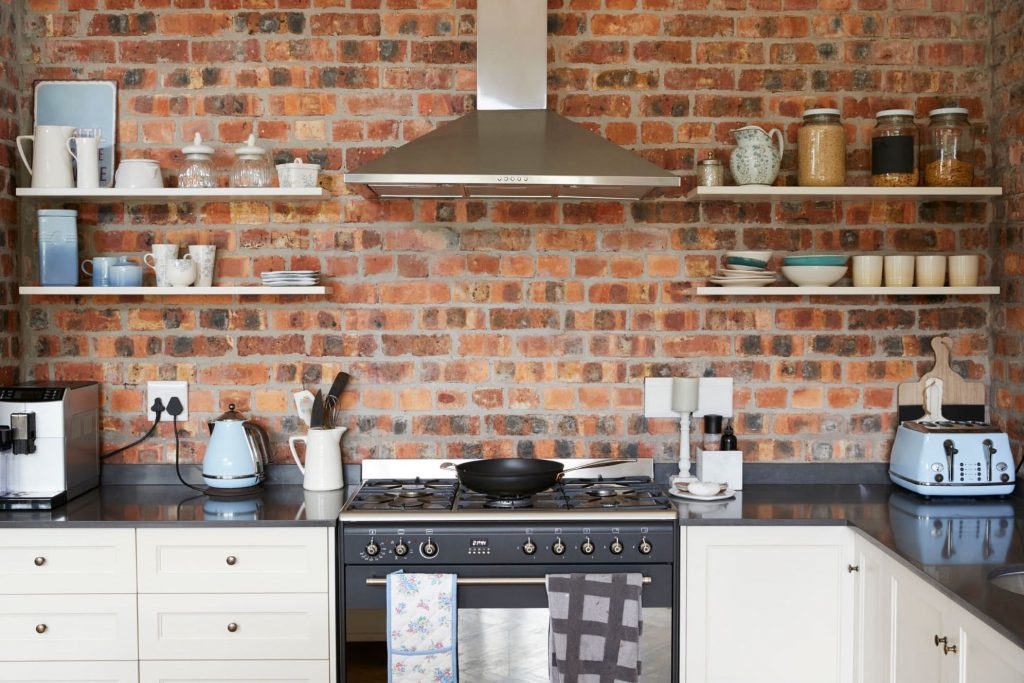 open shelves cabinetry